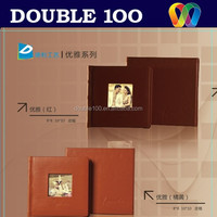 double100 hot new design western leather photo album with window