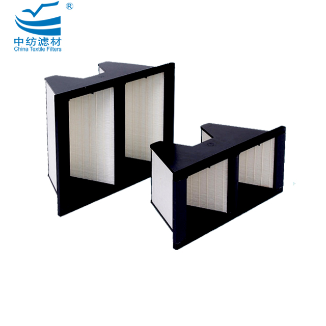 V1015A Stainless Galvanized Steel Aluminum Activated Carbon Glassfiber Mini Pleated V Bank Filter Foam