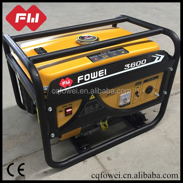 Chongqing factory direct sale low pollution gasoline generator for sale