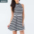 Wholesale price women stylish top quality halter stripes smart dress women clothing