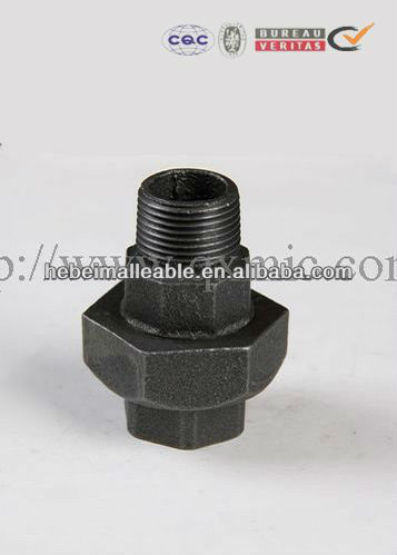 building material malleable iron pipe fittings union conical joint M&F