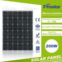 All Black Solar Panel Mono 200W with Chubb Insurance