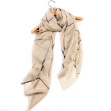 Fleece plaid scarf Thin Cashmere Wool Blends scarf