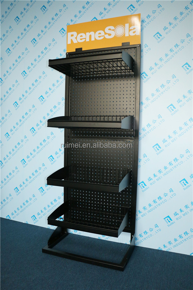 Metal Material Free Standing Pegboard Display Stand