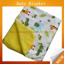 2015 Soft cheap coral fleece blanket,polar fleece baby blanket wholesale blanket for newborn baby Lyd-1027
