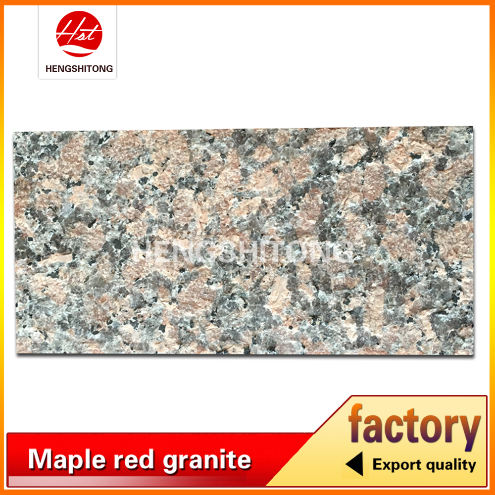 China Maple Red Granite Flamed Surface, Flamed Finish Granite Tiles