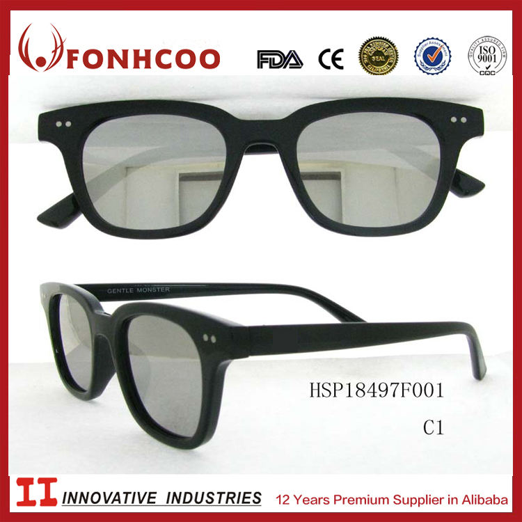 FONHCOO Hot Sale Promotional Simple Classic Colored Private Label PC Lens Plastic Sunglasses