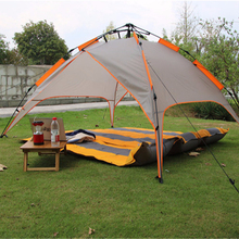 custom outdoor family camping instant automatic 3 seasons use dome tent double layers waterproof windproof