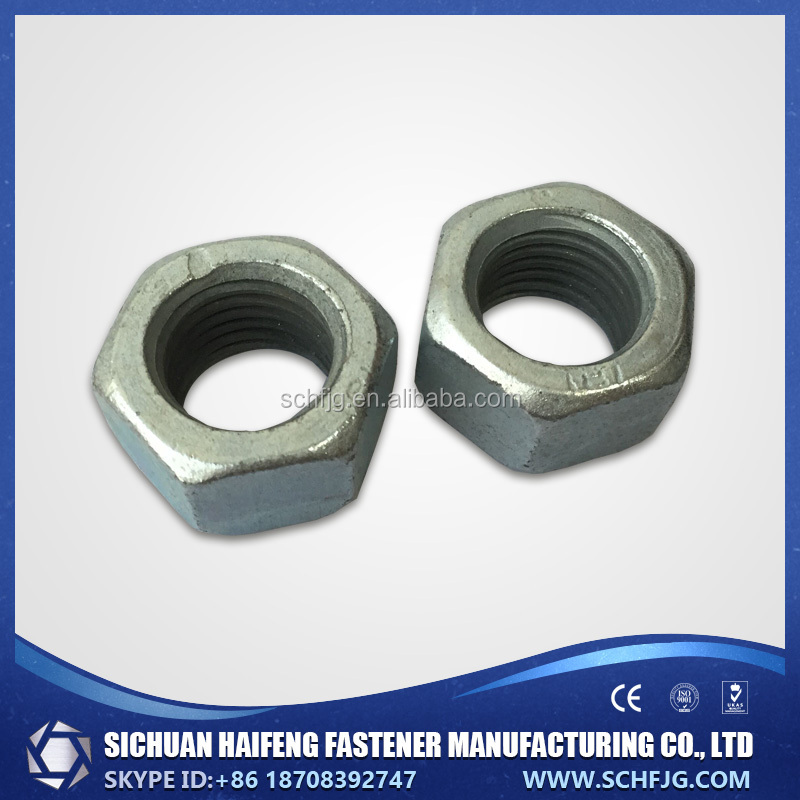 Factory Direct Low Price High Quality Galvanized Hex Head Nut in Southwest of China