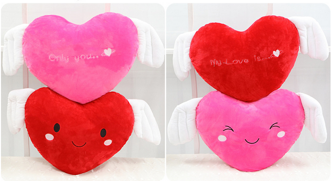 Plush Heart-shaped Life Size Pillows For Valentine's Day