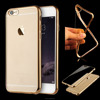 Promotion For Iphone6 5.5 Unique Metal electroplating edge soft tpu Case For Iphone 5 6S Plus Ultra Slim transparent case