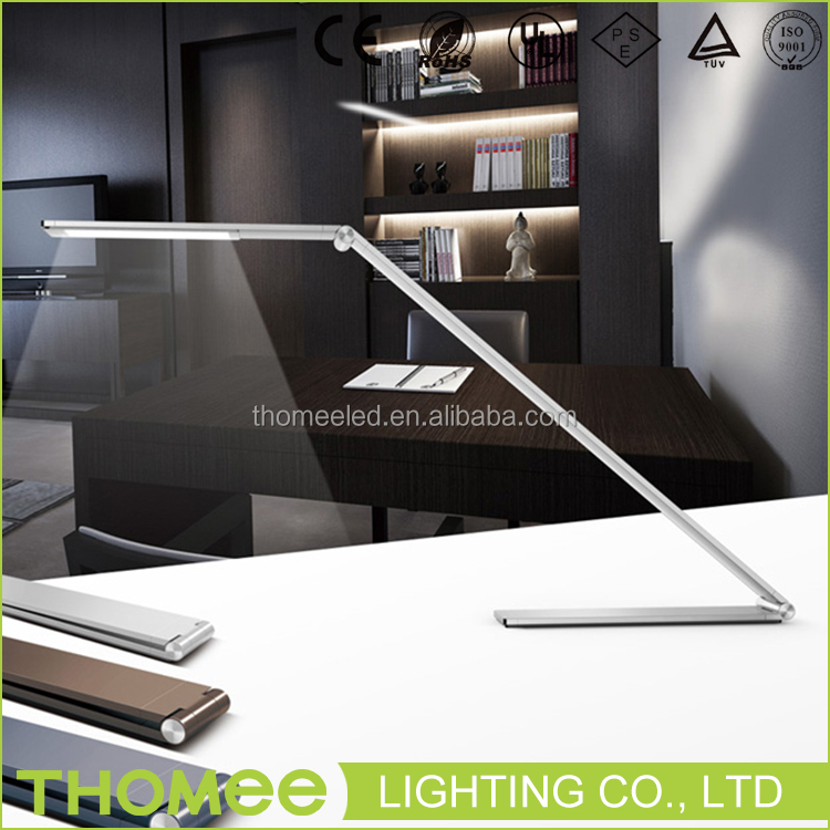 Unique modern design easy stored led table light rechargeable 7W metal office folding led desk lamp