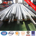 Octagonal Steel Galvanized hot 11 meters steel pole with 6.5KN load