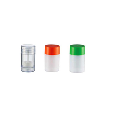30g 50g 75g AS plastic push up flat twist up deodorant stick container/tube