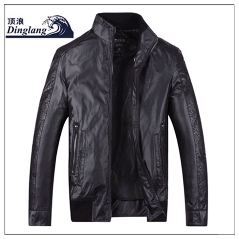 Ding Lang china supplier mens winter rain leather jackets
