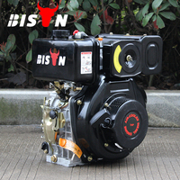 BISON(CHINA) BSD170F Key Start 4 Stroke Vertical Shaft Chinese Manufacturer Air-cooled 9hp Small Diesel Engines For Sale