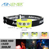 For Camping, Running, Hiking LED Headlight with 6 Brightness Modes Cree XBD + 2 RED LED Best LED Headlamp Flashlight