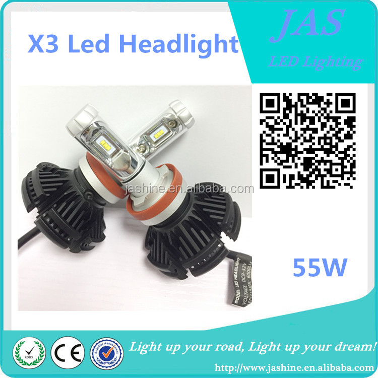 High quality Car Accessories H4 H7 H8 H13 9004 9005 9006 9012 led headlight bulb wholesales price for car X3 led headlight