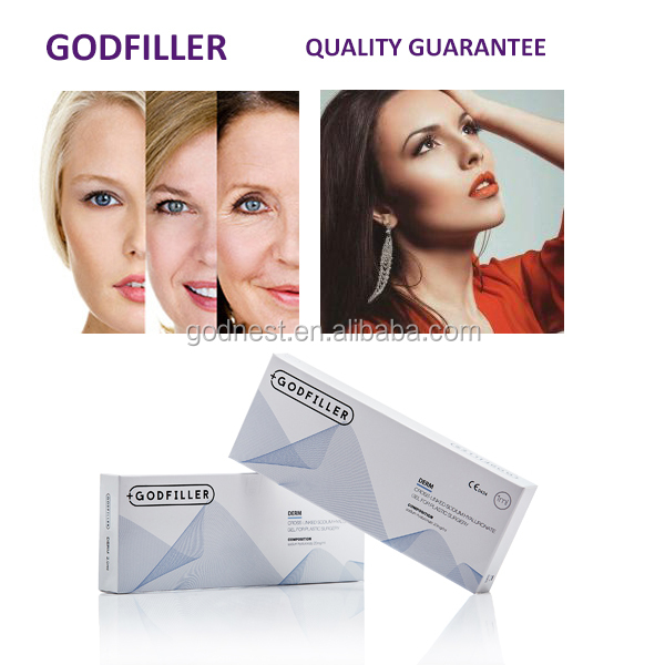 Anti Aging Cross Linked HA Lip Injection Filler Derm1.0 ml for plastic surgery