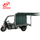 Chinese Kavaki 250cc Insulated van Three-Wheel Cargo Tricycle Motorized Motorcycle for Sale