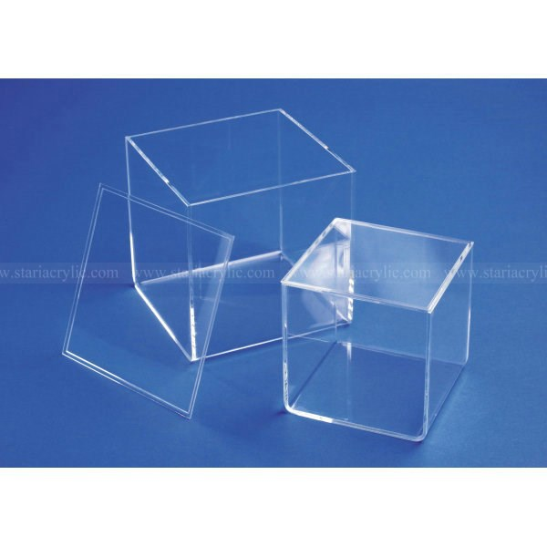 Acrylic Gift Storage Box, Acrylic Cube Boxes with lid , Mini Lucite Display Case