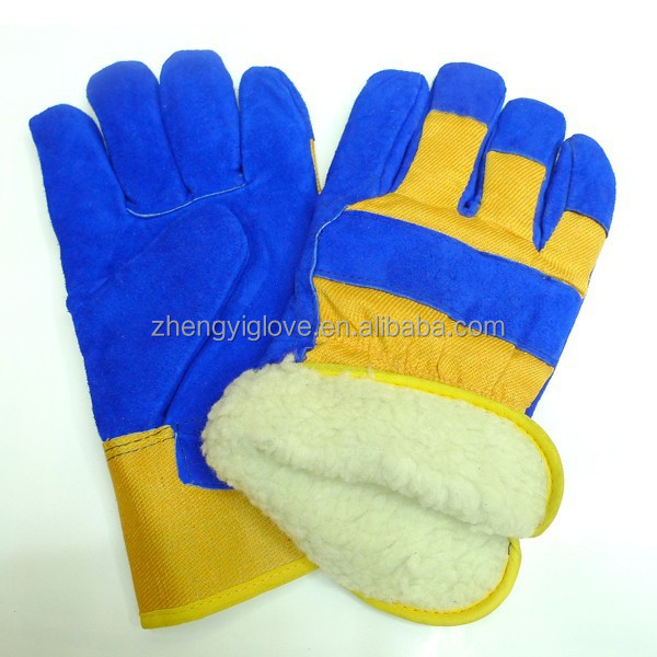cheap leather working gloves with warm lining