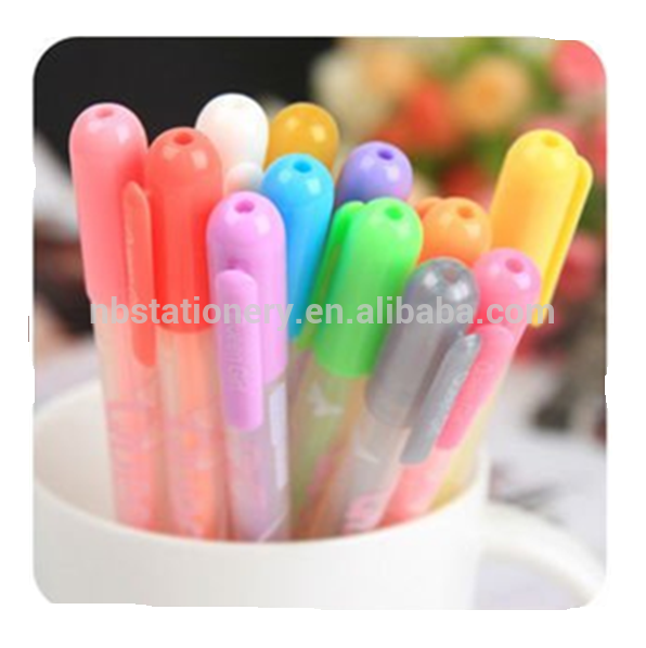 Wholesale OEM Manufactory Supply Glitter Gel Pen Set with Customized Logo for Promotion