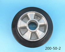 8inch 200mm Heavy Duty Aluminum Core Solid Rubber Wheel for Forklift