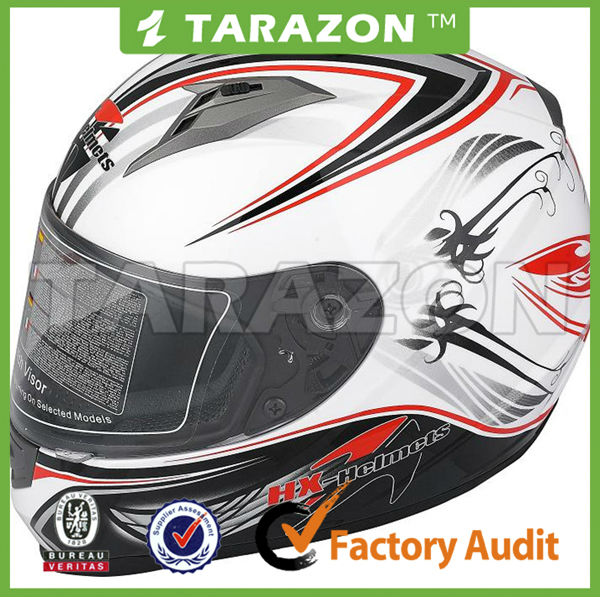 Hot sale and cool ABS full face ECE certification helmet for sport bike