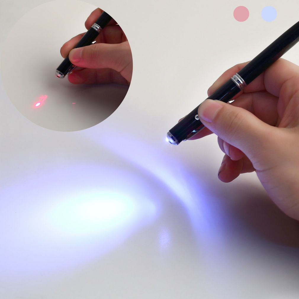 China fábrica universal red light laser capacitive touch screen stylus pen