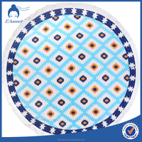 Cotton circle beach towel custom printed mandala round towel 1500mm
