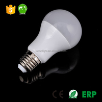 220V 7W A60 Globe LED Light Bulbs B22 Bayonet Cap Lamp and PC Diffuser dimmable plastic lamp white color lamp