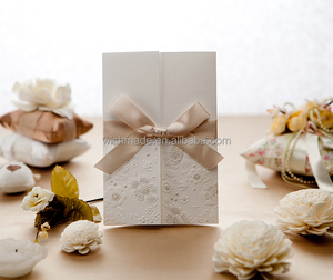 High quality Tri-Fold chinese traditional wedding invitation card