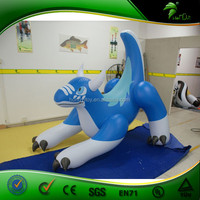 2015 new design hot selling giant inflatable motorized water wiggler toys