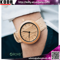 100% Bamboo Watches With Special Cork Strap Bamboo Wrist Watches