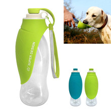 Free Shipping 650ml Sport Portable Pet Dog Water Bottle Expandable Silicone Travel Dog Bowl For Puppy Cat Drinking Outdoor Water