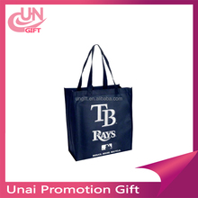 MLB Tampa Bay Rays Printed Non-Woven Polypropylene Reusable Grocery Tote Bag