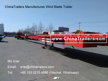 ChinaTrailers Manufactures Wind Turbine Blades Trailer for Transportation Trucks for Wind Power Generation Station