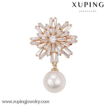 china wholesale latest design pearl jewelry brooch for women suits