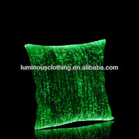 New optical fiber fabric table cloth luminous colorful pillow/ Flashing glowing pillow case