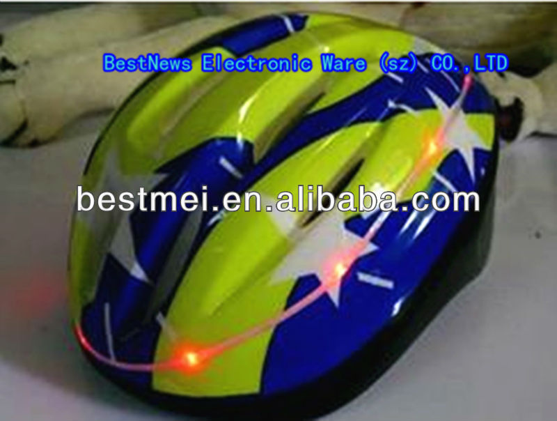 high quality light up LED bicycle helmet
