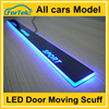 Latest plug and play car led moving door scuff