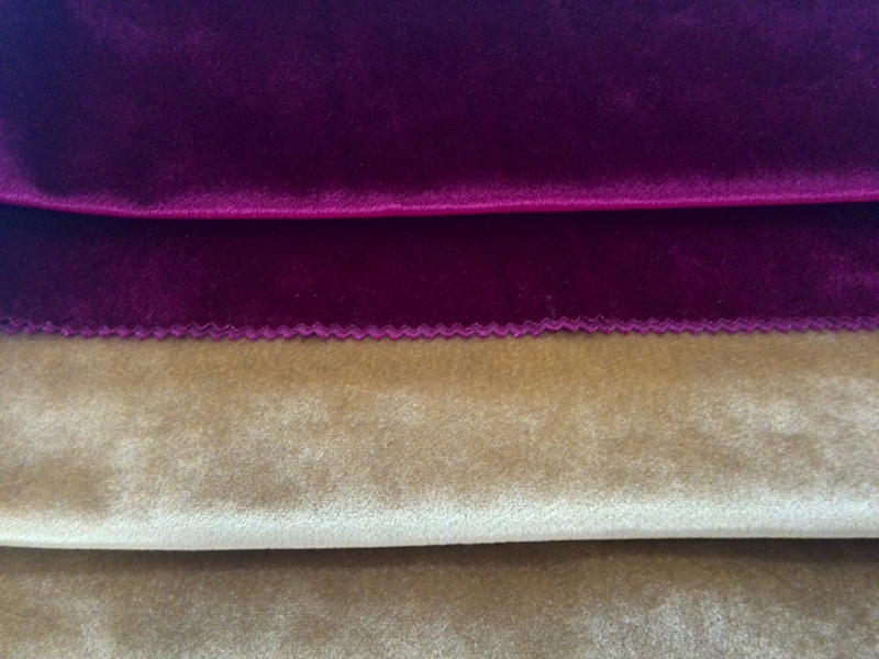 polyester italian velvet knitted fabric for sofa cover italian silk fabric shining upholstery fabric luxury plain color velvet