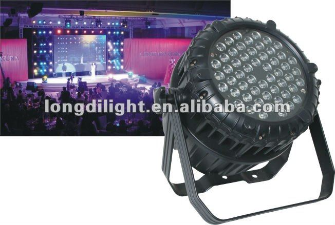 Best price dmx stage light IP65 waterproof 54x3w rgbw led par 64