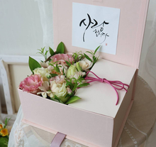 high-end flower packaging box as gift