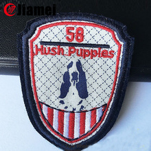 Custom special design embroidered neck patch for kids clothes