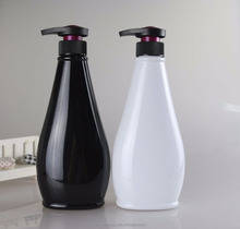 Black & white 500ml custom plastic bottle for bosy wash /lotion