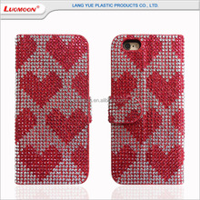 New products 2017 phone accessories diamond leather wallet mobile phone case for moto g5 plus design with card holder