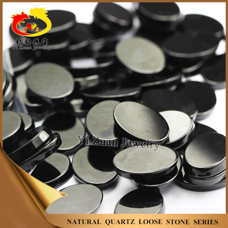 Chinese wholesale natural cutting black onyx gem stones price
