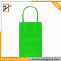 Custom Logo Cheap Neon Green Print Paper Carry Shopping Bag With Different Handles